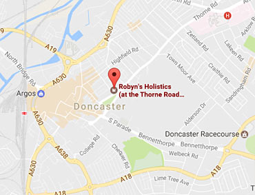 Robyn's Holistics in Doncaster Map